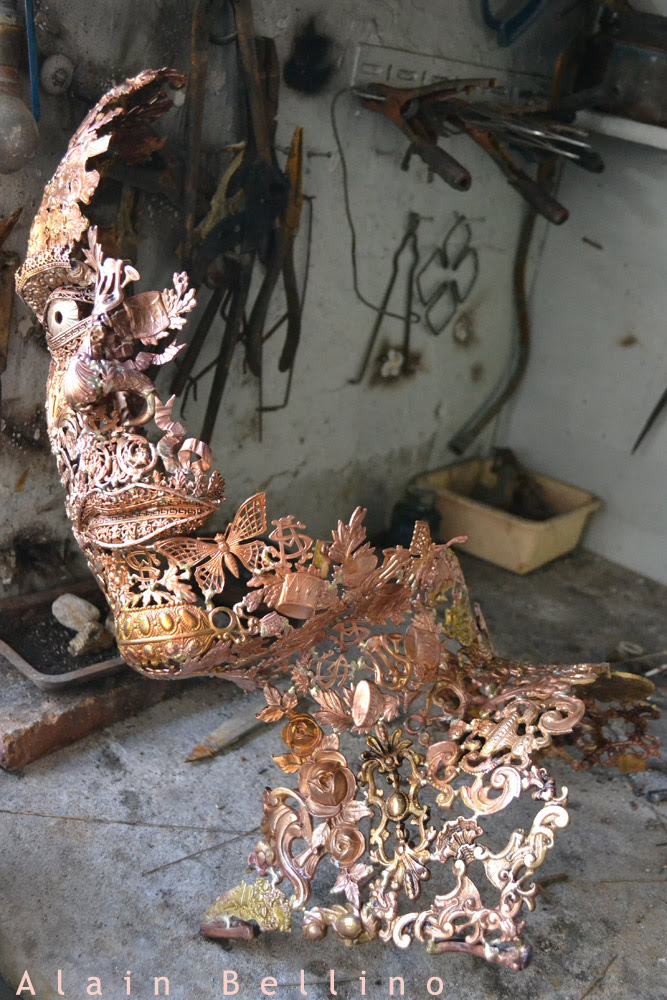 Amazing Metal Sculptures Made From Reclaimed Bronze Ornaments
