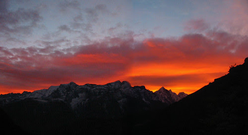 Sunset from Tengboche