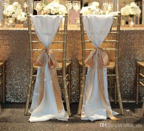 2019 FashionTaffeta Chair Covers Without Champagne Ribbon