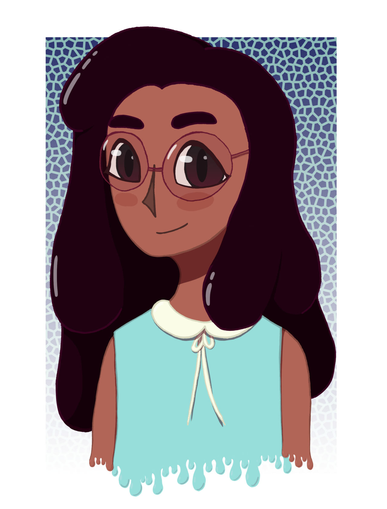 finally got around to watching Steven Universe and I'm really enjoying it so far~~ here's a little Connie I doodled earlier this week!