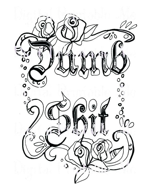 Curse Word Coloring Pages Free Printable at GetColorings ...