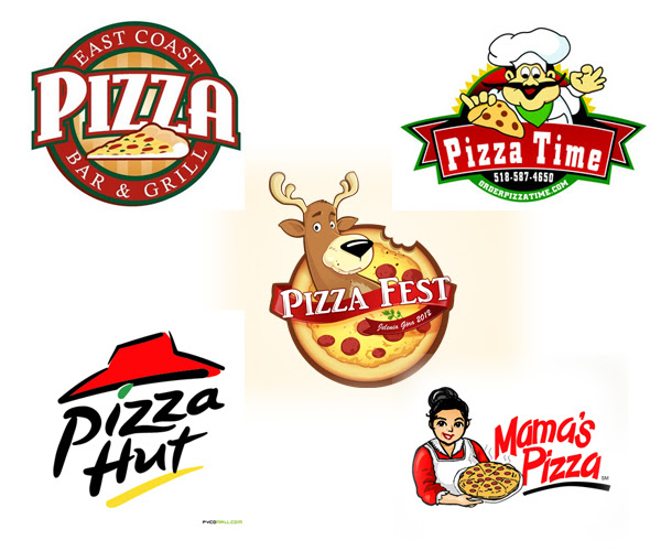 Pizza logo design template Royalty Free Vector Image