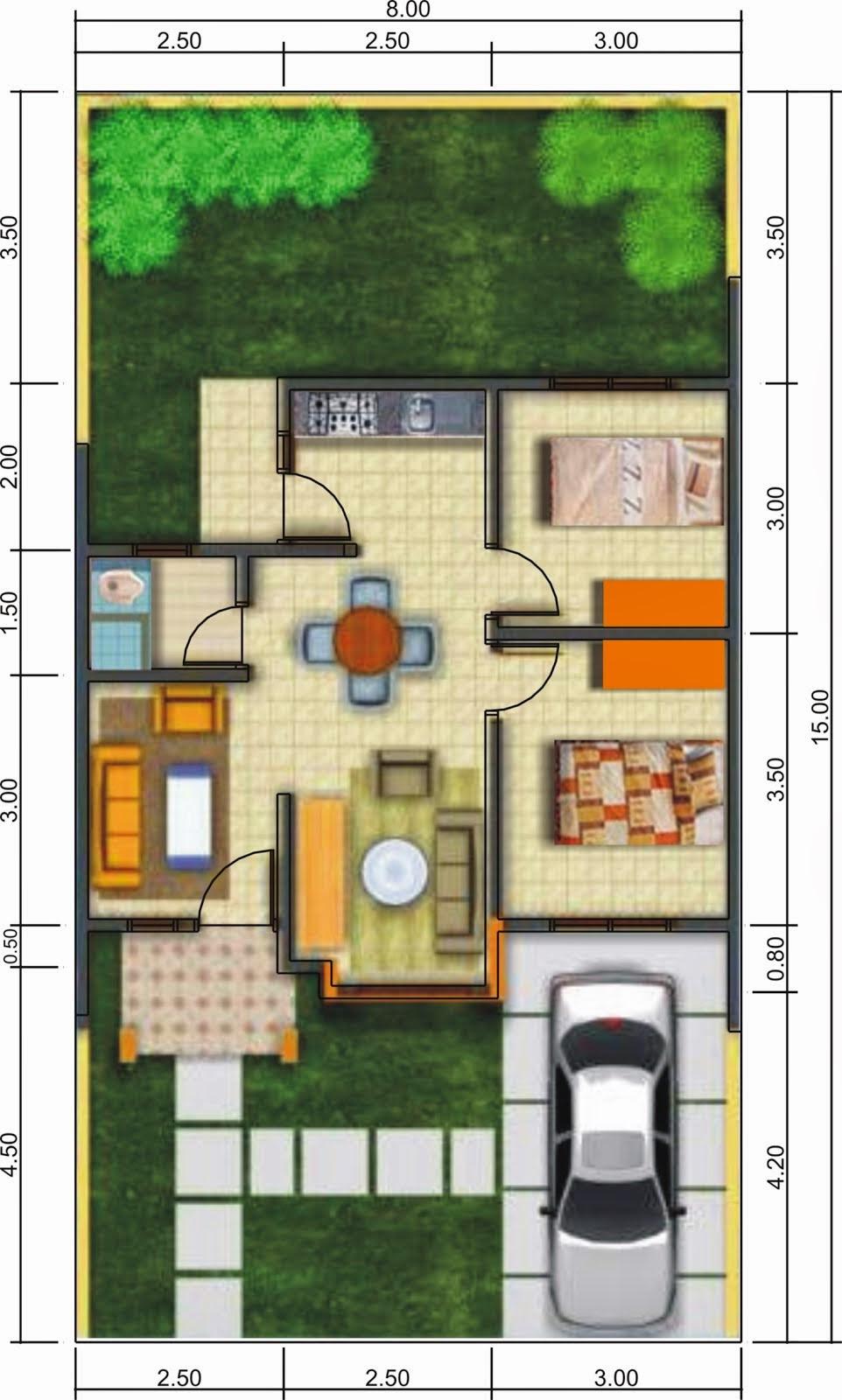 Desain Rumah Type 36 Luas Tanah 105 Cek Bahan Bangunan