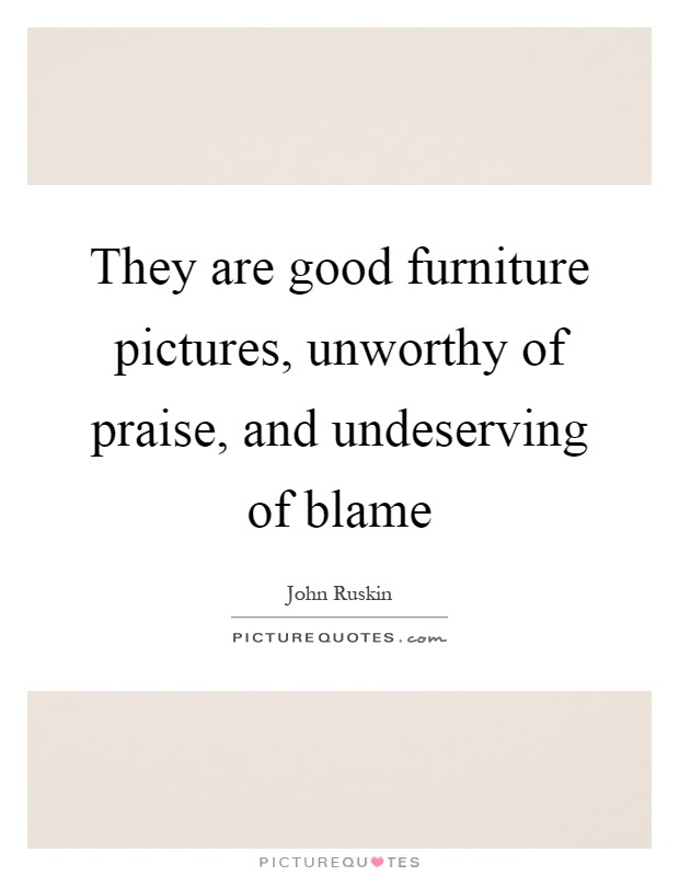 Furniture and food are ways that people define their ...