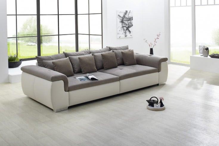 Moderne Design Wohnlandschaft YUBA greige XXL Big Sofa ...
