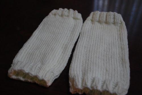 finished legwarmers