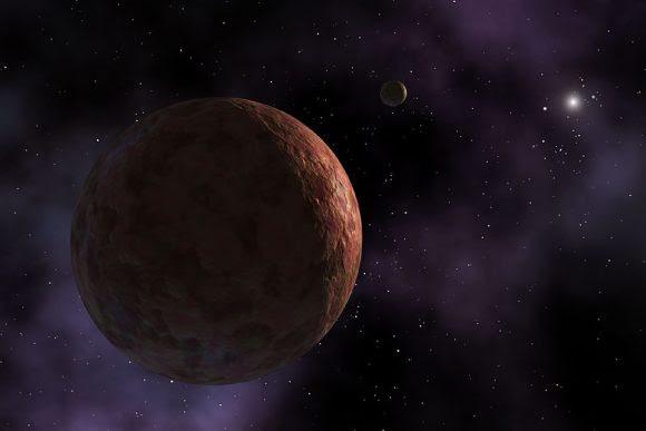 Recreación artística de Makemake (NASA).