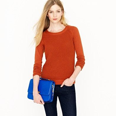 J.Crew Cotton Waffle Pullover