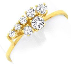 Originalfoto BRILLANT-DIAMANT-RING HANDARBEIT GELBGOLD