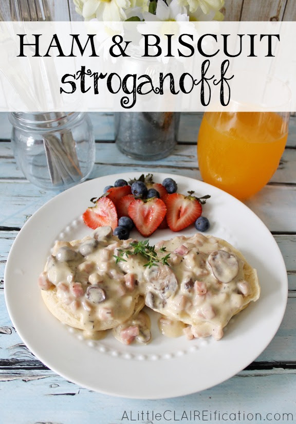 Ham and Biscuit Stroganoff  - A Delicious Southern Twist On a Classic #recipe
