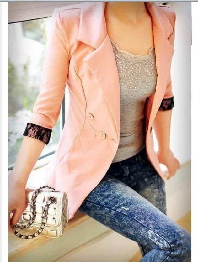 kinda obsessed with this outfit, light pink blazer is so cute
