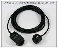OC1030: Off Camera Shoe Cord with Hardwired Straight Wire Extension