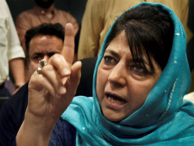 File image of PDP chief Mehbooba Mufti. PTI