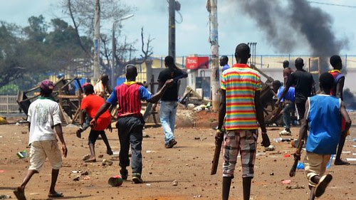 Guinea opposition clash with police, May 24, 2013. The former French colony has been unstable since the death of President Ahmed Sekou Toure in 1984. by Pan-African News Wire File Photos