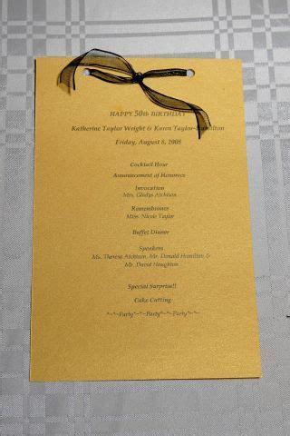 50th Birthday Gala program I designed, printed and