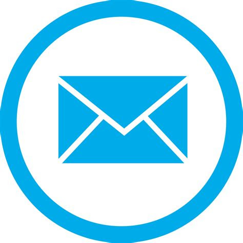 blue email box circle png transparent icon