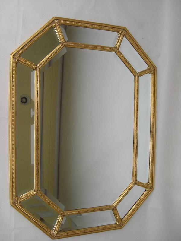 Decorative Gilt Frame Beveled Glass Mirror For Sale Antiquescom
