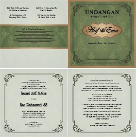 Desain Undangan Nikah Contoh Surat Undangan Pernikahan
