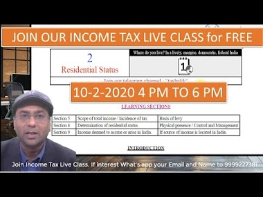 Finance Bill 2020 Amendment in residential status. Join our income tax l...