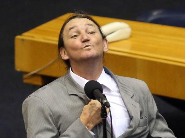 O vereador Marco Antonio Ricciardelli (PTB), mais conhecido como Marquito, durante sessão na Câmara Municipal de São Paulo em outubro de 2013 (Foto: J. F. Diorio/Estadão Conteúdo/Arquivo)