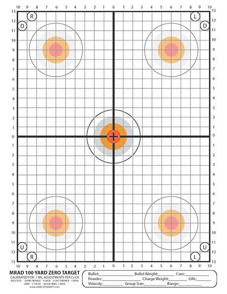ARMA DYNAMICS - Printable Targets