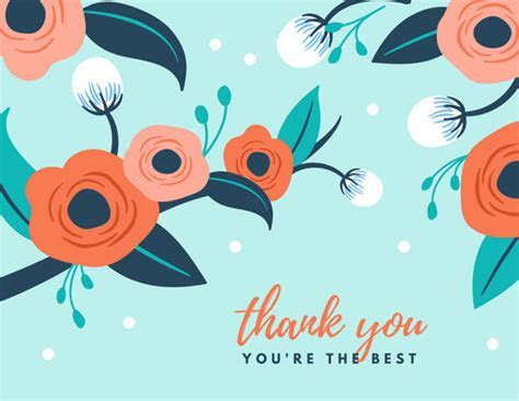 Customize 3,560  Thank You Card templates online   Canva
