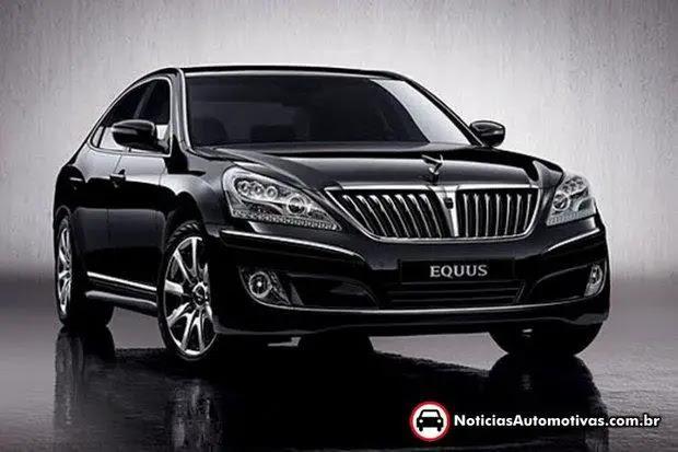 equus 2012 korea Hyundai poderá ter transmissão de 10 marchas em 2014
