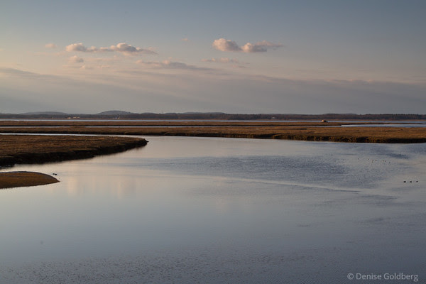 late afternoon light, from the bridge to Plum Island