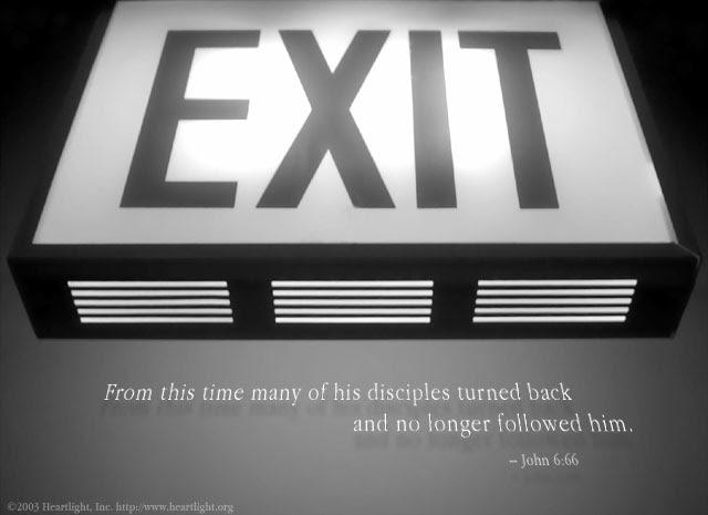 Inspirational illustration of John 6:66