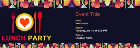 Free Lunch Party invitation with India?s #1 online tool