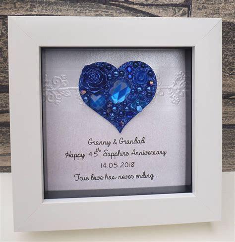 65th wedding anniversary gift 65th anniversary gift sapphire