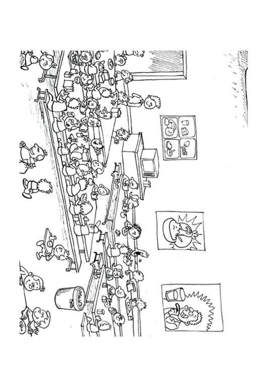 Dibujo Para Colorear Comedor Img 9500