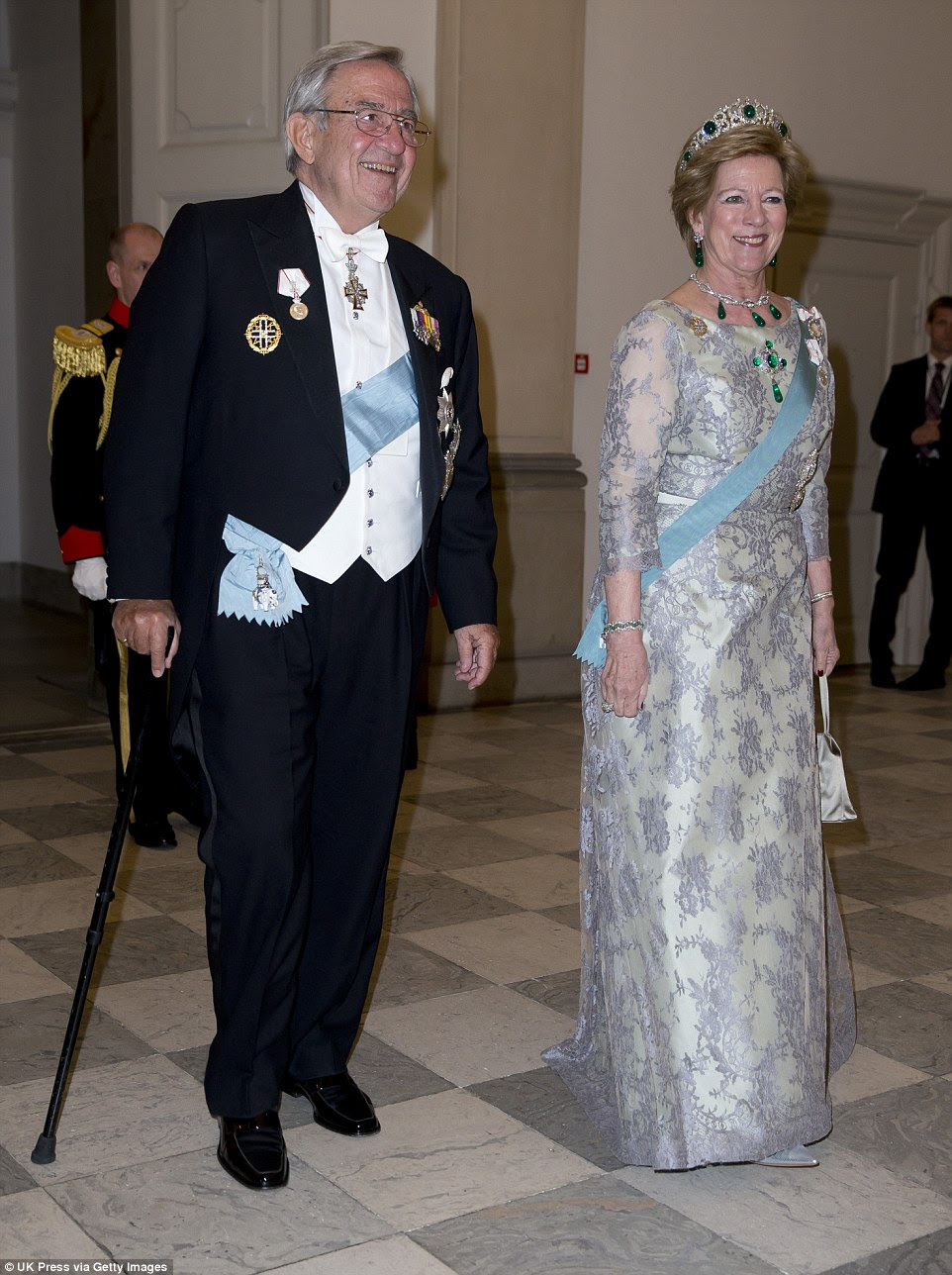 Emeralds: King Constantine of Greece and Queen Anne-Marie of Greec