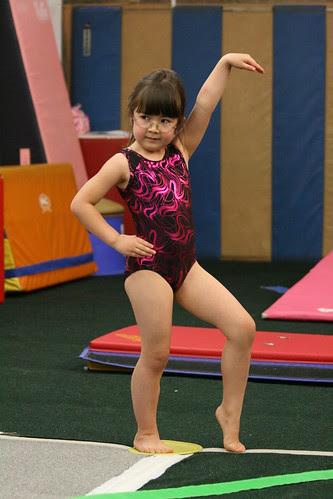 Dova poses in gymnastics
