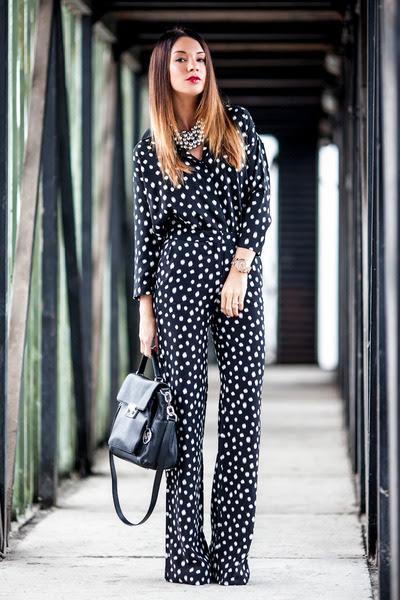 Black-leather-michael-kors-bag-silk-dotted-mango-blouse-mango-pants