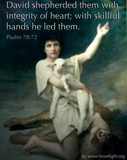 Inspirational illustration of Psalm 78:72