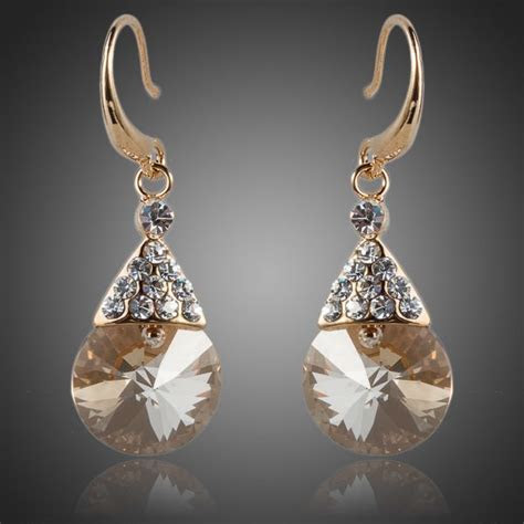 Bridal Jewellery 18 K Real Gold Plated SWA Swarovski
