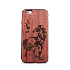 BUY Natural Wood Horse Black Bumper Ultra Thin Protective Back Cover iPhone Case for iPhone 6S Plus/6 Plus/6S/6 LIMITED
