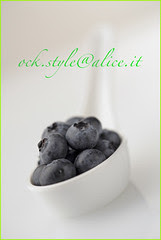 Blueberries in Chinese Spoon