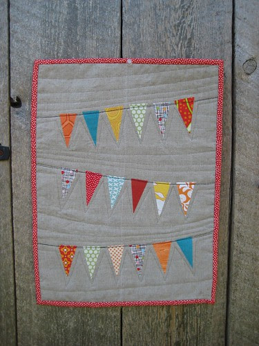 pennant birthday quilt from Spotted Stone Studio