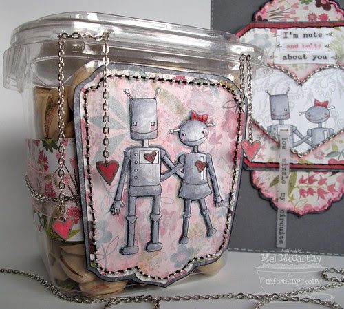 MFT robot nuts & bolts PISTACHIO BOX (altered) mel stampz