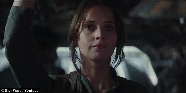 """""""Você está comigo? ': Apesar das probabilidades, Jyn diz que esta é a sua chance de fazer uma diferença real e pede a Aliança Rebelde, se eles têm suas costas"""
