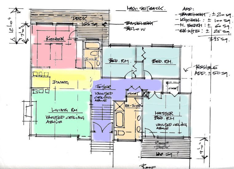 Residential Design. Renovation Addition design and drafting. Drawings for garages, decks - Zoning Plan V1