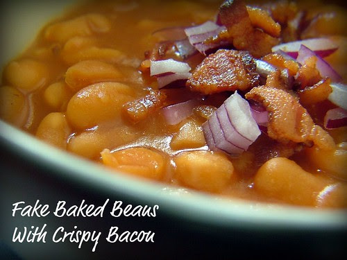 Fake Baked Beans With Crispy Bacon