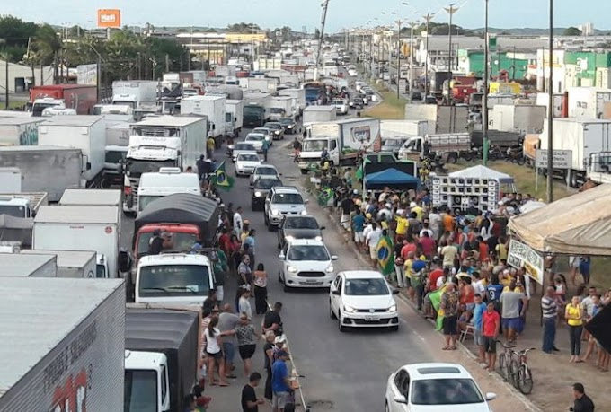 Caminhoneiros seguem bloqueando rodovias do RN