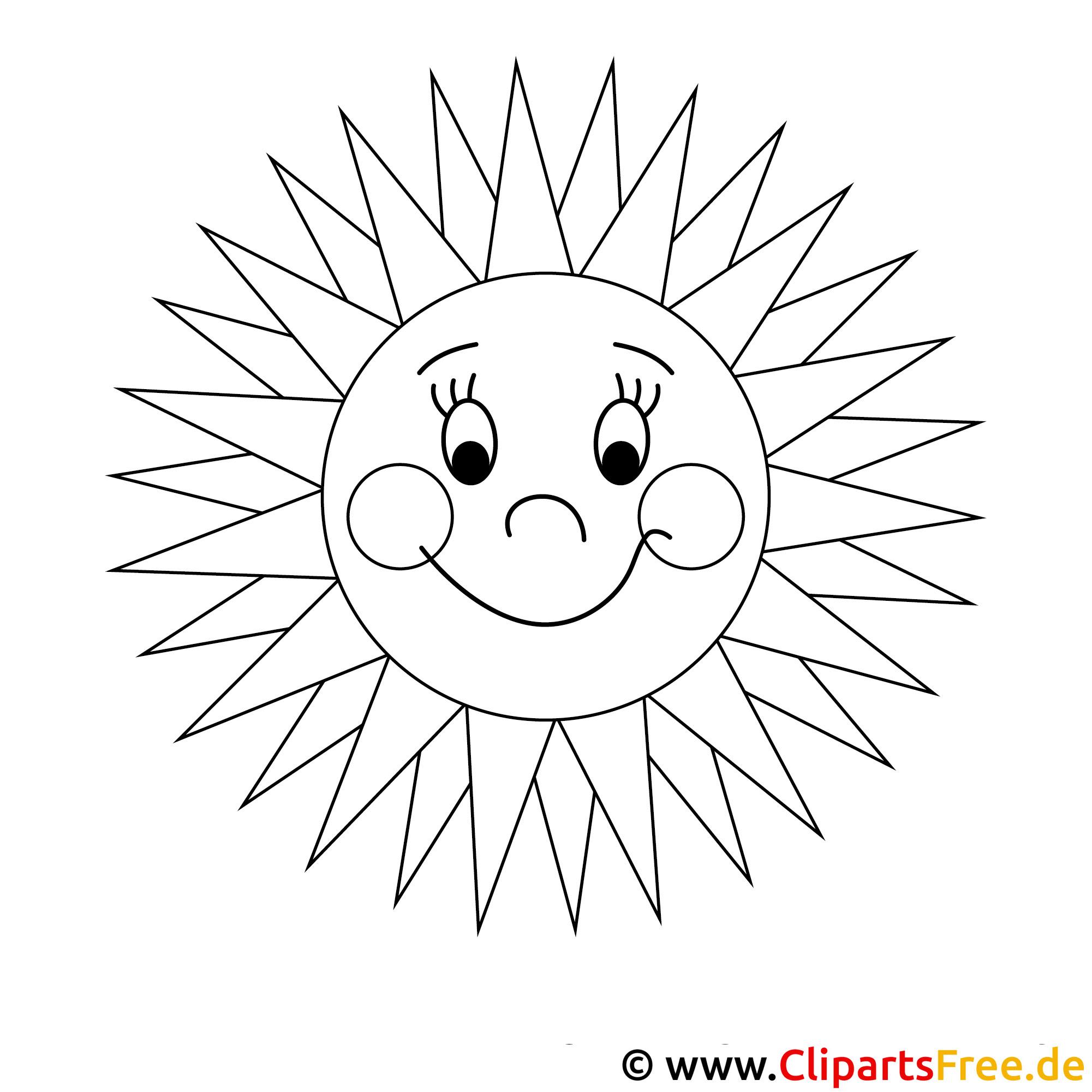 Sommer malvorlage Sonne Malvorlage