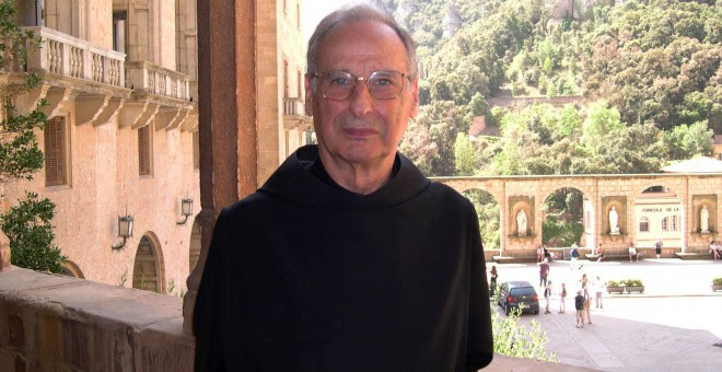 El monje benedictino de la abadía de Montserrat.- ABADÍA DE MONTSERRAT