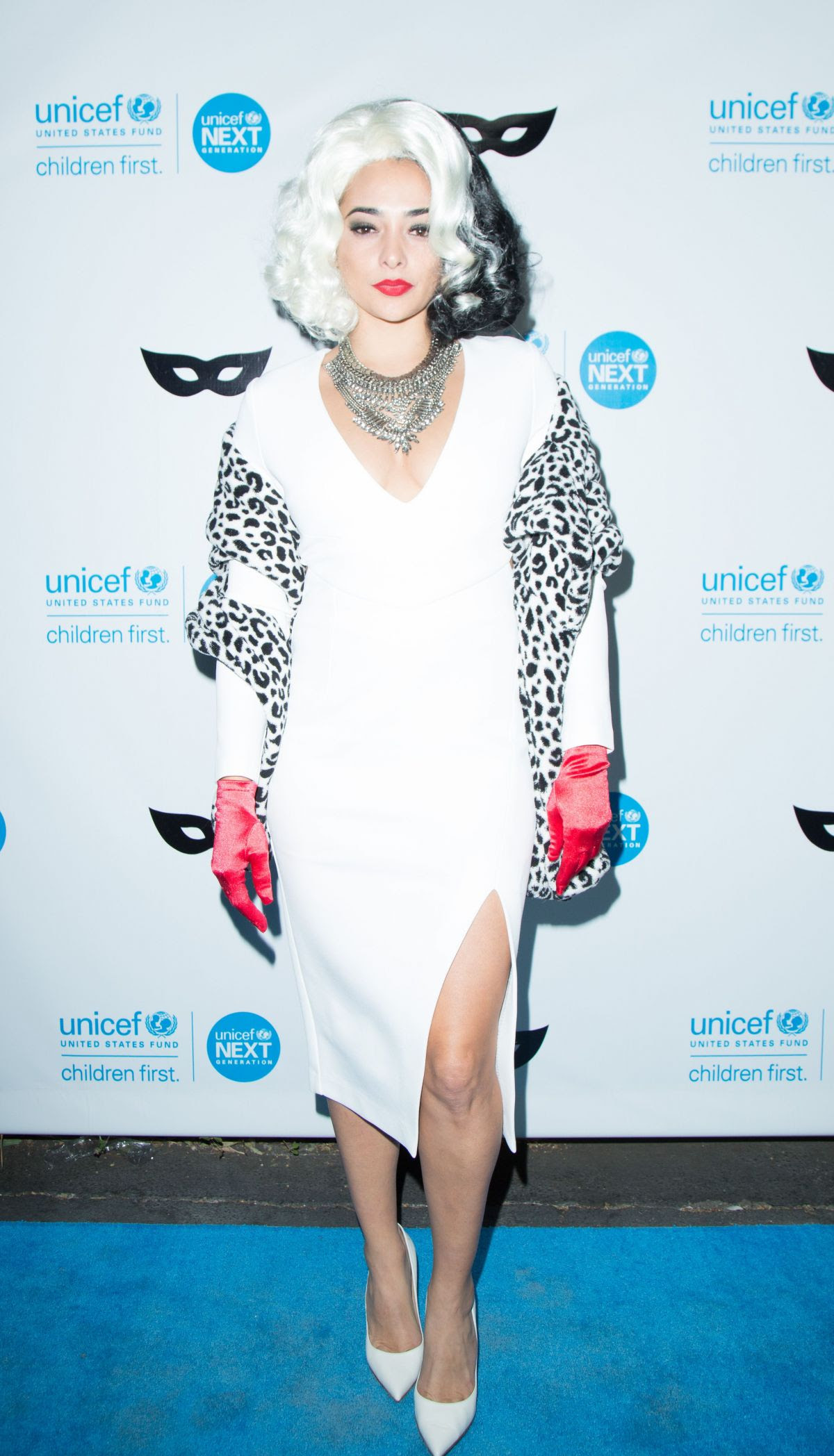 NATALIE MARTINEZ at 2015 Unicef Black & White Masquerade Ball in Los Angeles 10/30/2015