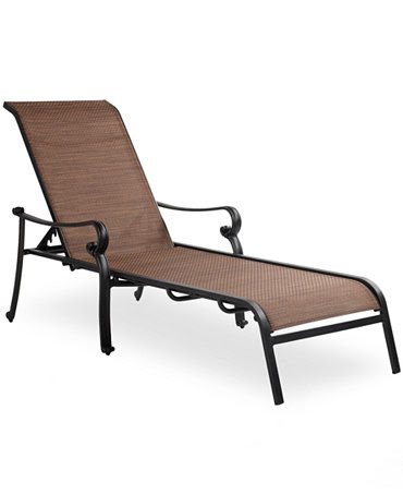 Paradise Aluminum Outdoor Chaise Lounge - Furniture - Macy's