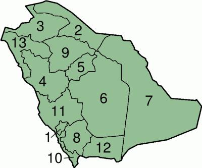Daerah Arab Saudi